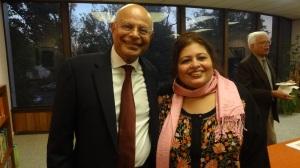 Dr. Natwar Gandhi with Dr. Afshan Hashmi