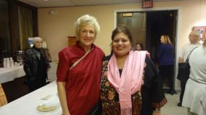 Srimati Kamala(President of Mahatma Gandhi Memorial Foundation) with Dr.Afshan Hashmi
