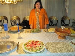 Dr.Afshan Hashmi in designer Indian clothes