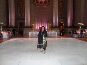 Dr. Afshan Hashmi in designer Indian Clothes